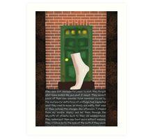 The Mannequin - Left Foot Art Print