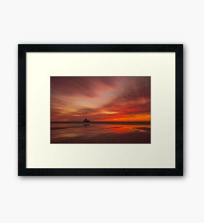 Fire in the sky by Jean Lelliott Framed Print