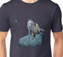 Princess Mononoke at night Unisex T-Shirt