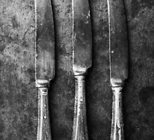 Cutlery Still Life - Knives by Margaret Chilinski