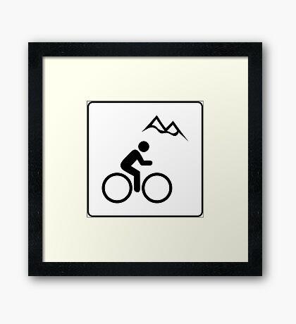 Mountain Biking Icon Framed Print