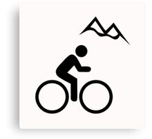 Mountain Biking Icon Canvas Print