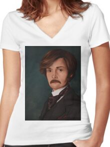 Molly Hooper Women's Fitted V-Neck T-Shirt