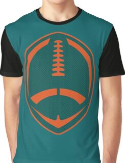 Vector Football - Dolphins Graphic T-Shirt