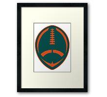 Vector Football - Dolphins Framed Print