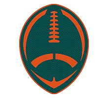 Vector Football - Dolphins Photographic Print
