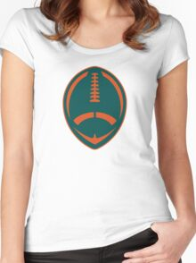 Vector Football - Dolphins Women's Fitted Scoop T-Shirt