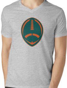 Vector Football - Dolphins Mens V-Neck T-Shirt