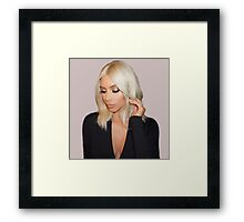 Blonde Kim Kardashian West  Framed Print