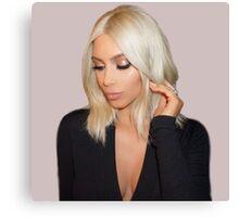 Blonde Kim Kardashian West  Canvas Print