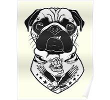 Tattooed Dog - Pug Poster