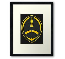 Vector Football - Steelers Framed Print