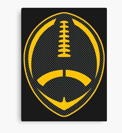 Vector Football - Steelers Canvas Print