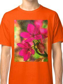 Flowers pink rosa orange Classic T-Shirt