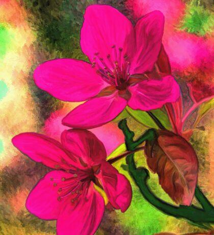 Flowers pink rosa orange Sticker