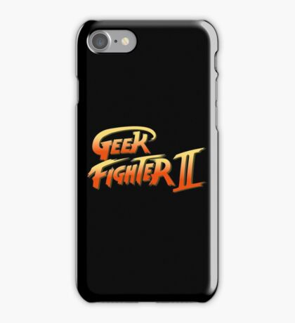 Street Fighter II - Geek Fighter II iPhone Case/Skin