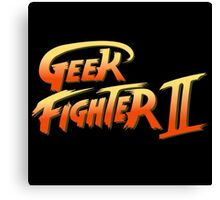 Street Fighter II - Geek Fighter II Canvas Print