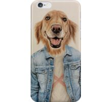 happy dog cowboy iPhone Case/Skin