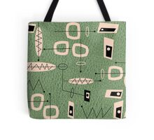 Mid-Century Modern Green Abstract Tote Bag