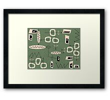 Mid-Century Modern Green Abstract Framed Print