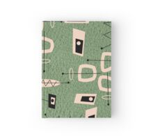 Mid-Century Modern Green Abstract Hardcover Journal