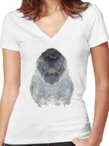 little seal Women's Fitted V-Neck T-Shirt