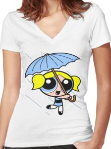 Powerpuff girls Women's Fitted V-Neck T-Shirt