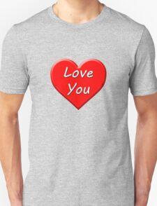 Love You (Heart) Unisex T-Shirt