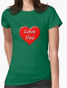 Love You (Heart) Womens Fitted T-Shirt