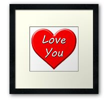 Love You (Heart) Framed Print