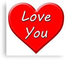 Love You (Heart) Canvas Print