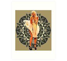 Lindsay Marilyn Lace White Glow Art Print
