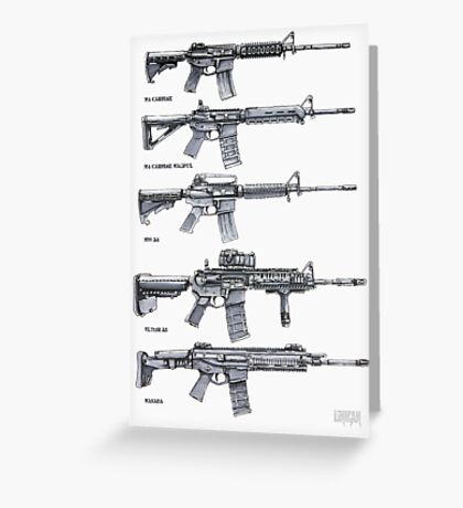 Rifle Concepts Greeting Card