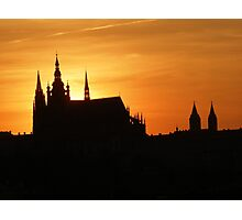 Sunset in Prag Photographic Print