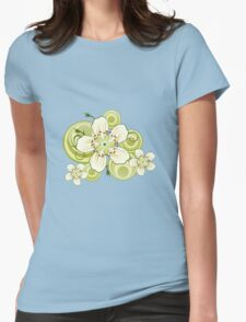 Blackthorn Tree Blossoms Womens Fitted T-Shirt