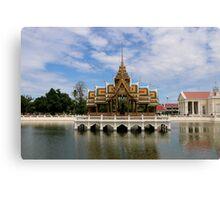 Thailand - Ayutthaya - Aisawan Dhiphya-Asana Pavilion Canvas Print