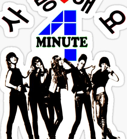♥♫SaRangHaeYo(Love) Hot Fabulous K-Pop Girl Group-4Minute Cool K-Pop Clothes & Phone/iPad/Laptop/MackBook Cases/Skins & Bags & Home Decor & Stationary♪♥ Sticker