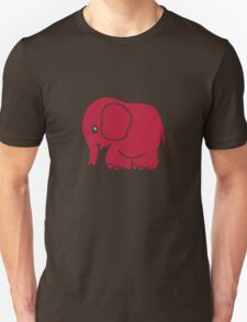 Funny cross-stitch red elephant Unisex T-Shirt