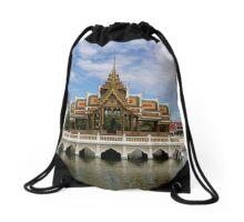 Thailand - Ayutthaya - Aisawan Dhiphya-Asana Pavilion Drawstring Bag
