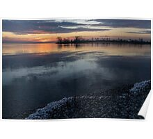 Icy Sunrise - Winter Waterfront Serenity Poster