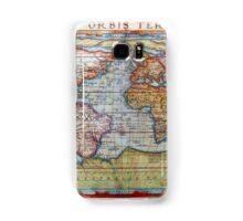 Colorful Antique Vintage World Map Ortelius Samsung Galaxy Case/Skin