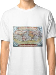Colorful Antique Vintage World Map Ortelius Classic T-Shirt