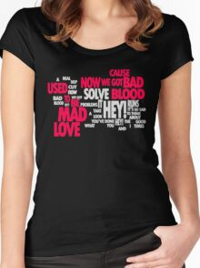 Lyric Cloud - Bad Blood v2 Women's Fitted Scoop T-Shirt