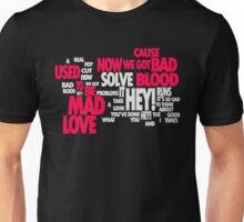 Lyric Cloud - Bad Blood v2 Unisex T-Shirt