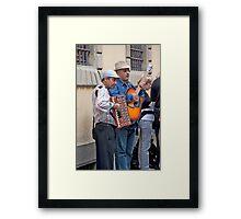 Entertaining The Line Framed Print
