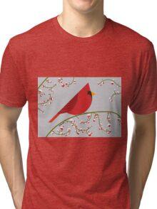 Cardinal bird in vector Tri-blend T-Shirt