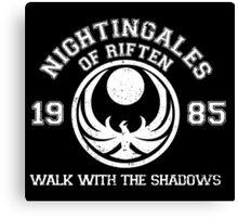 Nightingales of riften - black Canvas Print