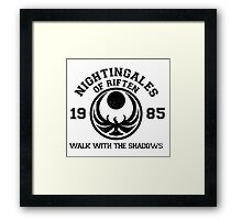 Nightingales of riften Framed Print