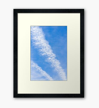Clouds with blue sky Framed Print