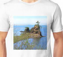 Rock and Tree...off Hwy 101, Newport, Oregon Unisex T-Shirt